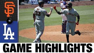 Wilmer Flores homers, turns two in 5-4 win   Giants-Dodgers Highlights 7/25/20