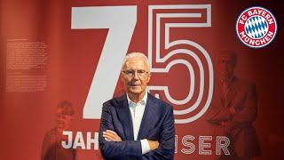 Imperial honor for Franz Beckenbauer in the FC Bayern Museum | 75 years of KAISER