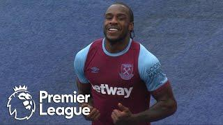 Michail Antonio heads West Ham in front of Leicester City | Premier League | NBC Sports