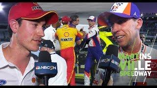Denny Hamlin, Joey Logano tussle on pit road at Martinsville | NASCAR Cup Series