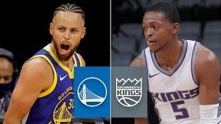 Stephen Curry in mid-season form in Warriors vs. Kings | 2020 NBA Preseason Highlights