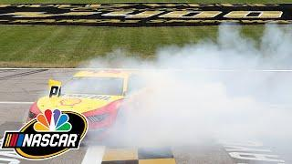 Joey Logano wins at Kansas; Denny Hamlin slips up; Kurt Busch goes boom | Motorsports on NBC
