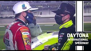 Chase Elliott and Ryan Blaney comment after last lap contact at Daytona | The Busch Clash at Daytona