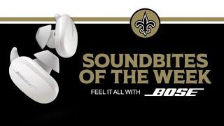 BOSE Soundbites of the Week: Saints vs. Panthers - Week 7 2020