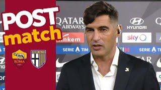 ROMA-PARMA POST MATCH | Paulo Fonseca