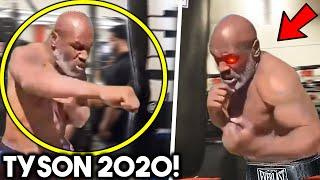 (WOW!) MIKE TYSON DESTROYS HEAVY BAG IN TRAINING CAMP FOR COMEBACK AT 53 FOR EVANDER HOLYFIELD CLASH