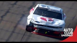 The 'Big One' strikes in Turn 2 at Fontana | NASCAR at Auto Club Speedway