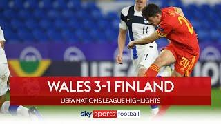 James scores stunner to seal Wales' promotion! | Wales 3-1 Finland | UEFA Nations League Highlights