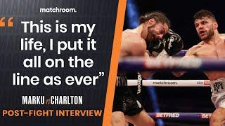 Florian Marku reacts to grudge match win over Rylan Charlton