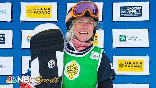 USA's Faye Gulini nabs second place in Snowboard Cross World Cup, Valmalenco, Italy | NBC Sports