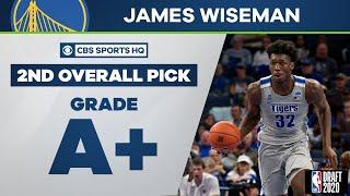 Golden State Warriors select James Wiseman with 2nd overall pick   2020 NBA Draft   CBS Sports HQ