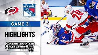 NHL Highlights | Hurricanes @ Rangers, GM3 - Aug. 4, 2020
