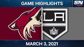 NHL Game Highlights | Coyotes vs. Kings – March 03, 2021