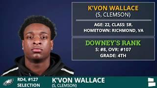 Philadelphia Eagles Pick S K'Von Wallace from Clemson In 4th Round of 2020 NFL Drafteagles pick