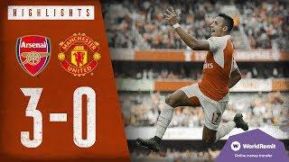 A SCREAMER FROM ALEXIS SANCHEZ! | Arsenal 3-0 Manchester United | Classic highlights | 2015