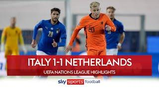 Donny van de Beek scores to rescues a draw | Italy 1-1 Netherlands | Nations League Highlights
