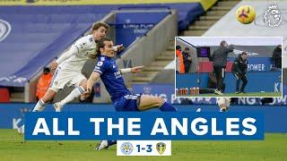 Patrick Bamford stunning goal delights Marcelo Bielsa! All The Angles | Leicester 1-3 Leeds United
