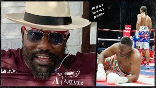 Dereck Chisora watches himself get knocked out by David Haye for the first time EVER!