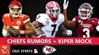 Kansas City Chiefs Rumors On Patrick Mahomes & Chris Harris + Mel Kiper Mocks D'Andre Swift To KC