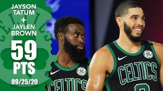 Jayson Tatum, Jaylen Brown combine for 59 points [GAME 5 HIGHLIGHTS] | 2020 NBA Playoffs