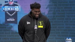 """""""I Feel Like I'm The Most Dominant Tackle In This Draft"""" Mekhi Becton's NFL Combine Press Conference"""