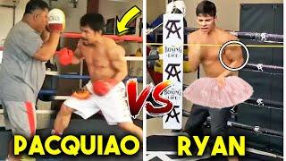 *NEW* PACQUIAO vs RYAN GARCIA TRAINING SIDE BY SIDE COMPARISON (SPEED PADS, STRENGTH, CONDITIONING