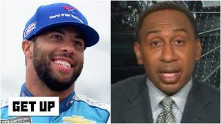 Stephen A. weighs in on NASCAR drivers supporting Bubba Wallace at Talladega | Get Up
