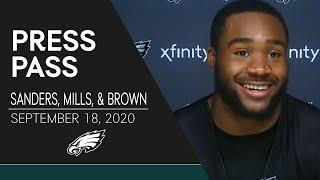 """Miles Sanders on His Week 2 Status: """"I'm Ready to Go""""   Eagles Press Pass"""