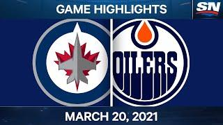 NHL Game Highlights | Jets vs. Oilers – Mar. 20, 2021