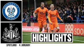 ALMIRÓN SCORES BUT A REPLAY IS NEEDED | Rochdale 1 Newcastle United 1: FA Cup Highlights