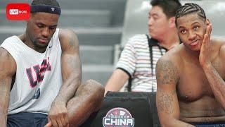 Carmelo Anthony REVEALS How He & Lebron James Were Mistreated By Veterans In 2004 Olympics! Live!