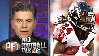 New York Giants sign Devonta Freeman after Saquon Barkley tears ACL | PFTPM | NBC Sports