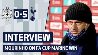 MARINE 0-5 SPURS | JOSE MOURINHO'S REACTION