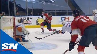 Mike Hoffman Buries Perfect Pass From Jonathan Huberdeau to get Panthers on board