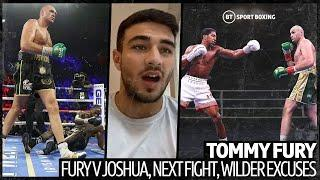 """Joshua retires on his stool."" Tommy Fury on Wilder's excuses, Tyson v AJ, training with John Fury"