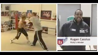 FOOTAGE OF KUGAN CASSIUS (BEFORE IFL TV) AS RICKY HATTON'S UN-TRAINED MINDER FOR PACQUIAO FIGHT