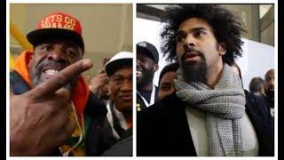 WHEN SHANON BRIGGS GATECRASHED ANTHONY JOSHUA WEIGH IN TO CONFRONT & BEEF w/ DAVID HAYE