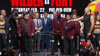 BANNED FACE OFF! | Wilder & Fury Make Weight, Yell Back & Forth | HIGHLIGHTS | Wilder vs Fury 2