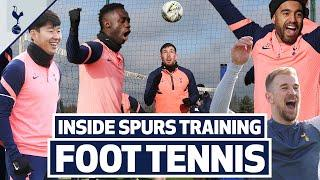 The MOST COMPETITIVE foot tennis match EVER? ️️  6v6 to crown the Spurs foot tennis CHAMPIONS