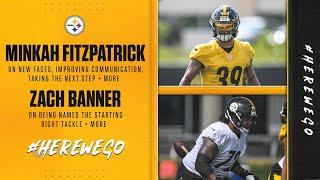 Steelers Press Conference (Sept. 10): Minkah Fitzpatrick, Zach Banner | Week 1 at New York Giants