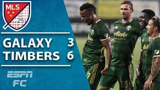 Portland Timbers thrash the LA Galaxy in 9-goal thriller | MLS Highlights