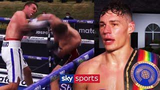 Chris Billam-Smith speaks after his showreel knockout of Nathan Thorley