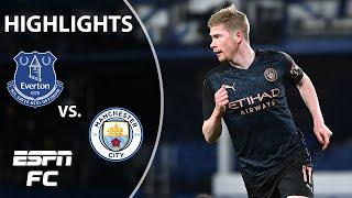 Manchester City beats Everton to reach semifinals | ESPN FC FA Cup Highlights