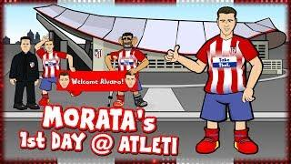 MORATA's 1st DAY AT ATLETI! (Alvaro Morata signs for Atletico Madrid Parody Transfer)