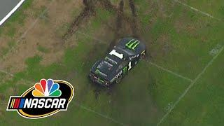 Kurt Busch spins out of control while leading at Daytona, goes from 1st to 27th | Motorsports on NBC