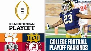 College Football Playoff Rankings Release: Alabama, Notre Dame, Clemson, Ohio State | CBS Sports HQ