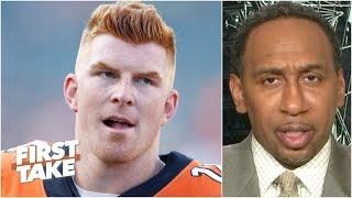 Stephen A. makes the case for Cam Newton over Andy Dalton to the Patriots | First Take