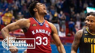 No. 17 Kansas hands No. 2 Baylor its first loss of the season {HIGHLIGHTS} | ESPN College Basketball