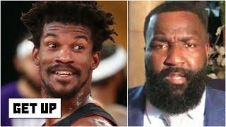 Kendrick Perkins wishes Jimmy Butler & the Heat 'Good luck!' ahead of Game 2   Get Up