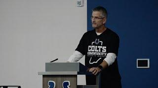 Inside the Team Meeting Room with Coach Reich | Colts Training Camp